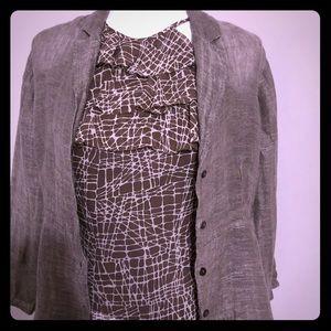 Eileen Fisher linen Xs jacket blouse